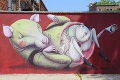 Настенная роспись в Бруклине Стоковое Изображение RF