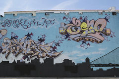 Настенная роспись в Бруклине, NY Стоковые Изображения