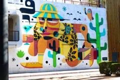 Настенная роспись в городском Лас-Вегас Стоковое Фото