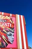Настенная роспись в городском Лас-Вегас Стоковые Фото