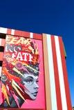 Настенная роспись в городском Лас-Вегас Стоковое Изображение RF