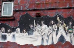 Настенная роспись в Голуэй Ирландии Стоковое Изображение RF