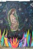 Настенная роспись в красном разделе крюка Бруклина Стоковые Фотографии RF
