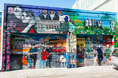 Настенная роспись в районе района полета в Сан-Франциско Стоковое Фото