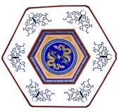 Настенная роспись дракона Стоковое Изображение RF