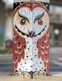 Настенная роспись искусства в парке глубоком Ellum искусства, Далласе, Техасе Стоковые Фото