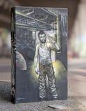 Настенная роспись искусства в парке глубоком Ellum искусства, Далласе, Техасе Стоковая Фотография RF