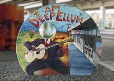 Настенная роспись искусства в парке глубоком Ellum искусства, Далласе, Техасе Стоковое фото RF