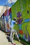 Настенная роспись картины художника улицы на суде Веллингтона в Astoria Стоковое фото RF