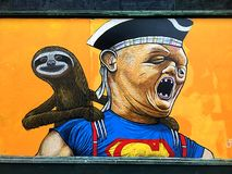 Настенная роспись лени от кино 1985 Goonies Стоковые Фото