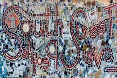 Настенная роспись мозаики в южной улице Филадельфии Стоковое Изображение RF
