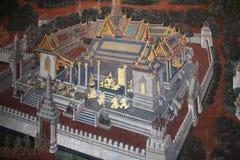 Настенная роспись на грандиозном дворце Стоковая Фотография RF