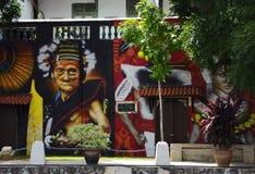 Настенная роспись на реке Melaka стоковые изображения