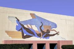 Настенная роспись на справедливом парке в Далласе Pierre Bourdelle стоковые фото