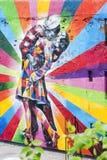 Настенная роспись на стене в Нью-Йорке, NY Стоковое фото RF