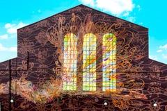 Настенная роспись на стене, Филадельфии, Пенсильвании Стоковое фото RF