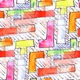 Настенная роспись покрасила предпосылку t картины предпосылки нашивок безшовную Стоковая Фотография RF