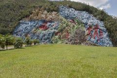 Настенная роспись протоистории в кубинской долине Viñales Стоковые Изображения RF