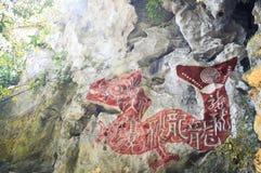 Настенная роспись дракона Стоковое Изображение