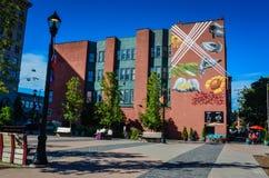 Настенная роспись рыночной площади - Кливленд, Огайо Стоковое Изображение RF