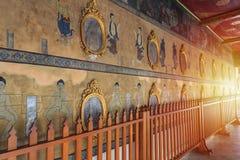 Настенная роспись стены в Wat Pho Стоковая Фотография RF