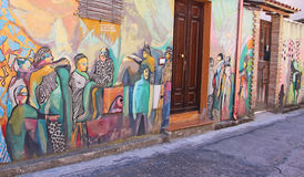 Настенная роспись улицы в Сардинии стоковые изображения