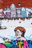 Настенная роспись федерального канцлера Ангелы Меркели на фабрике в Германии, Ганновере Стоковые Фото