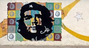 Настенная роспись Че Гевара на ½ n ¿ Malecï, Гаване, Кубе Стоковое фото RF