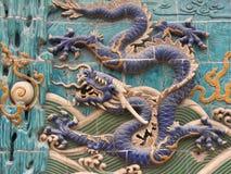 настенная роспись 2 драконов Стоковые Изображения