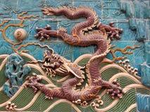 настенная роспись 6 драконов Стоковое фото RF
