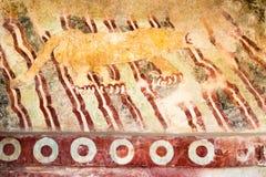 Настенная роспись del пума Teotihuacan стоковая фотография