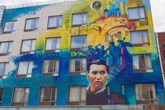 Настенная роспись Federico Garcia Lorca в Нью-Йорке Стоковые Фото