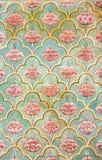 Настенные живописи Mughal на дворце города Джайпура Стоковое фото RF