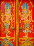 Настенные росписи виска Таиланда Стоковое Фото