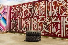 Настенные росписи искусства на Wynwood творческом и районе искусств в Майами Стоковые Фотографии RF