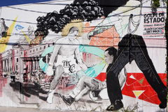 Настенные росписи искусства на Wynwood Стоковое Изображение RF
