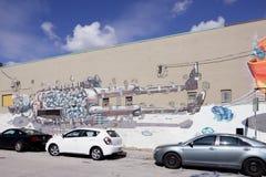 Настенные росписи искусства на Wynwood Стоковые Фотографии RF