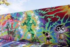 Настенные росписи искусства на Wynwood Стоковое фото RF