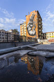 Настенные росписи искусства улицы в Риме для galery 999contemporary стоковая фотография