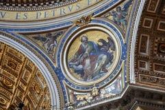 Настенные росписи, мозаика и картины на потолке St Peter b Стоковые Фотографии RF