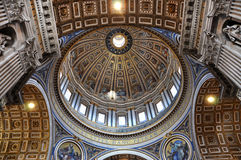 Настенные росписи, мозаика и картины на потолке St Peter b Стоковые Изображения RF
