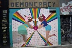 Настенные росписи переулка фанфаров очень красивые очень творческие, 6 Стоковое Изображение RF