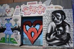 Настенные росписи переулка фанфаров очень красивые очень творческие, 9 Стоковая Фотография