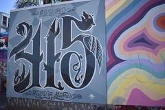 Настенные росписи переулка фанфаров очень красивые очень творческие, 15 Стоковое фото RF