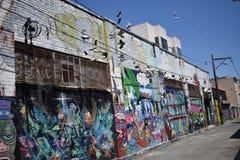 Настенные росписи переулка фанфаров очень красивые очень творческие, 26 Стоковые Фотографии RF