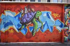 Настенные росписи переулка фанфаров очень красивые очень творческие, 29 Стоковое Фото