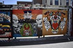 Настенные росписи переулка фанфаров очень красивые очень творческие, 31 Стоковые Фотографии RF