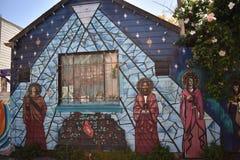 Настенные росписи переулка фанфаров очень красивые очень творческие, 39 Стоковое фото RF