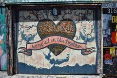 Настенные росписи переулка фанфаров очень красивые очень творческие, 33 Стоковые Фотографии RF