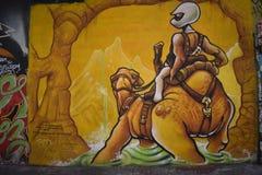 Настенные росписи переулка фанфаров очень красивые очень творческие, 55 Стоковое Изображение